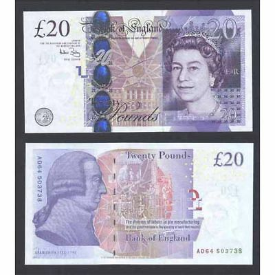 Great Britain P-390b ND(2004)  20 Pounds Crisp UNC