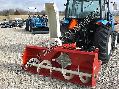"RED Farm King Y740 74"" Tractor PTO Snow Blower,4BladeFan,SkidShoes:BESTBUY&BRAND"