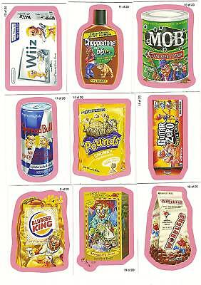 2010 WACKY PACKAGES Series 7 WACK-O-MERCIALS RED SET