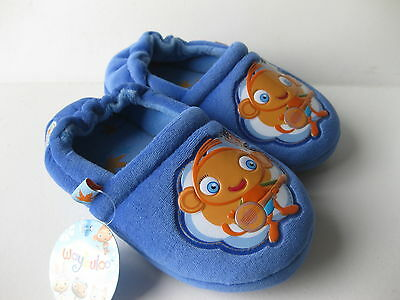 ***BOYS INFANTS WAYBULOO SLIPPERS SHOES SIZE 5 TO 9 BLUE ***