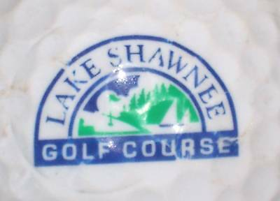 (1) Lake Shawnee Golf Club Course Logo Golf Ball Balls
