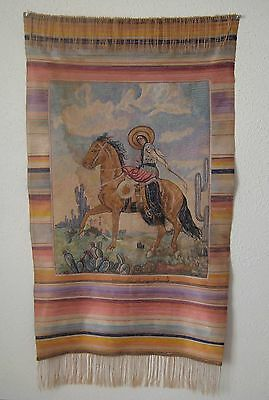 Vintage Mexican Crewel Tapestry     #553