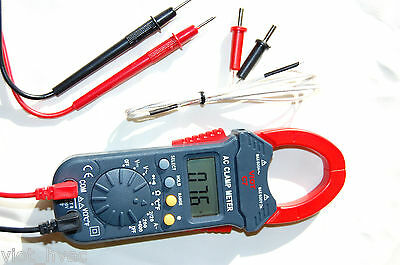 Clamp Ammeter Volt Amp Ohm Meter Digital Multimeter DMM Type K Thermocouple HVAC