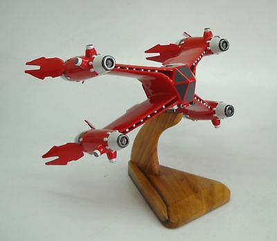 Red Baron Fighter Babylon-5 Spacecraft Mahogany Kiln Dry Wood Model Large New