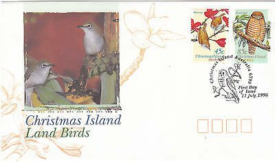 1996 Christmas Island Land Birds  FDC