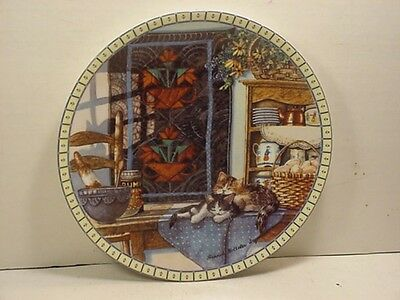 Knowles Lazy Morning - Cozy Country Corners Cat Plate