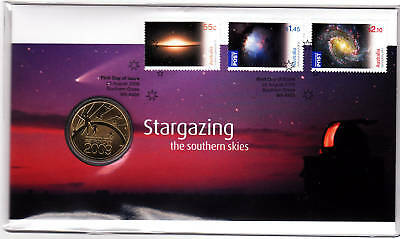 2009 Stargazing the Southern Skies PNC With Limited Edition Perth Mint $1 Coin