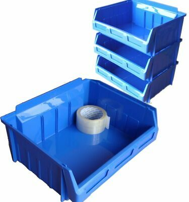 10 STORAGE BINS LARGE  290mmLx363mmW FREE DIVIDERS