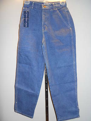 Nos Vintage 1980s 90s Deadstock Calvin Klein Blue Jeans Cropped High Waist 4