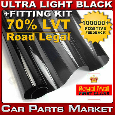 ULTRA LIGHT 70%LVT ROAD LEGAL CAR WINDOW TINT  6M x76CM