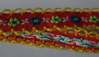 Crafts Sew on Ribbon Trim Fringe 4yds Jacquard Trimming Tape with Embroidery