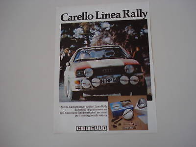 advertising Pubblicità 1981 CARELLO LINEA RALLY