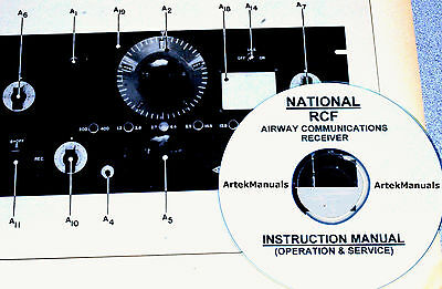 NATIONAL RCF Airway Comm. Receiver Instruction Manual
