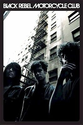 BLACK REBEL MOTORCYCLE CLUB ~ FIRE ESCAPE 24x36 MUSIC POSTER NEW/ROLLED!