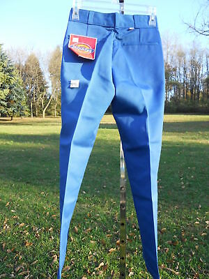 Nos Vintage 1980s Dickies Blue Work Pants Slacks Trousers School Youth 26x28 12R