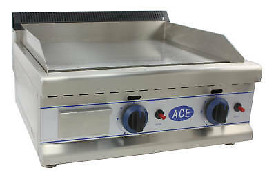 ACE HEAVY DUTY NATURAL GAS GRIDDLE HOTPLATE 60cm bed