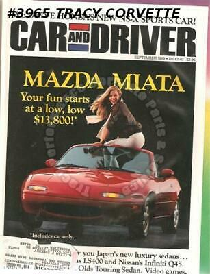 September 1989 Car and Driver Mazda MX-5 Miata Lexus Nissan March Super Turbo