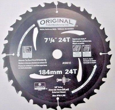 Original 7 1/4 x 24 Carbide Teflon Saw Blades 00010