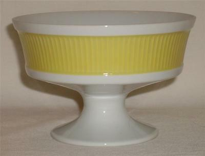 FITZ & FLOYD Footed & Ribbed Yellow Custard Dessert Cup