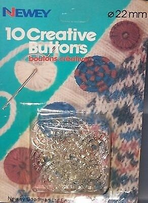 NEWEY CREATIVE BUTTONS - SELF COVER 22mm - 2 sets of 10