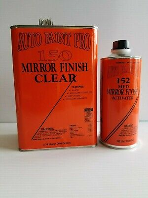 Mirror finish urethane clearcoat kit w/tack cloth auto body shop car paint