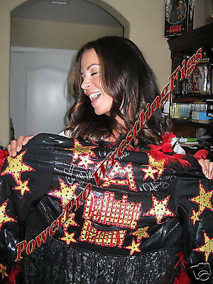 Wwe Candice Michelle Full Ring Worn Robe Signed W/proof Coa