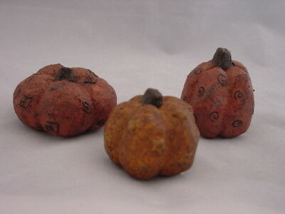 Very Primitive Pumpkin Decorations ~Honey & Me~ 3p NEW