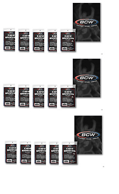 BCW (1500) Poly Trading Card Sleeves For Toploaders - Storage and Protection