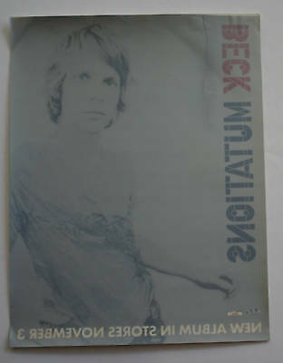 Beck Record Co Only Promo Window Sticker 1998