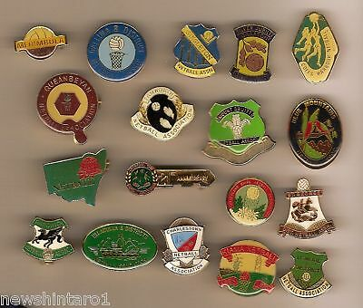 Collection Of 18 Netball Club Badges