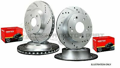 SEAT LEON 150 TDi 1999-2005 FRONT & REAR DRILLED GROOVED BRAKE DISCS MINTEX PADS