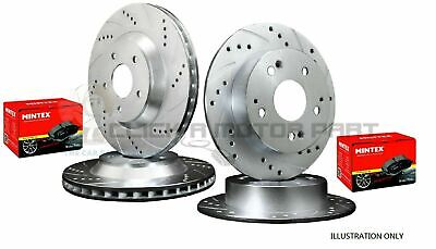 Toyota Yaris 1.5 T-SPORT Dimpled /& Grooved Front Rear Brake Discs /& Mintex Pads