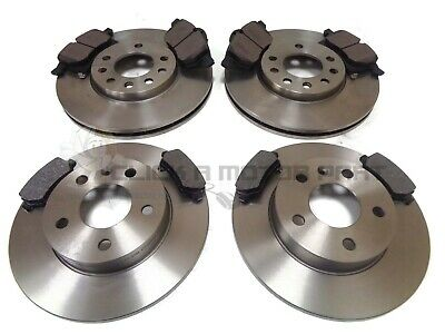 Vauxhall Zafira Mk1 1998-2004 Front And Rear Brake Discs & Pads Set New Lucas