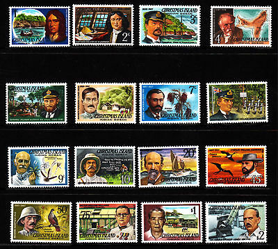 1977/78 Famous Visitors of Christmas Island MUH Set of 16 Stamps