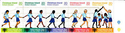 1979 Xmas Island Year of the Child MUH - Strip of 5