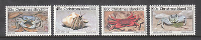 1985 Christmas Island Crabs II -  MUH Complete Set of 4 Stamps