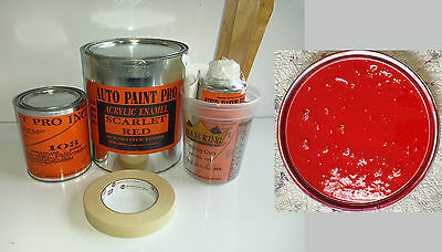 Scarlet Red acrylic enamel single stage restoration auto body shop car paint kit