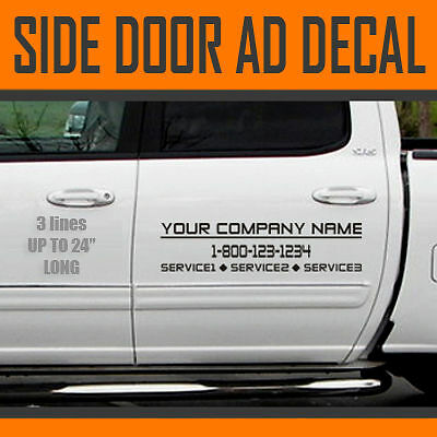 "15-24"" Custom Truck Decal Business Vinyl Sign Lettering"