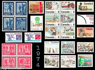 1974 Complete Year Set / Canada postage stamps MNH