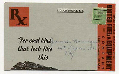Old Denver United Fuel Double Fold Postcard Ad86