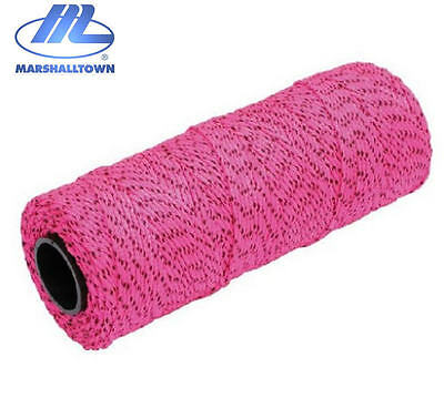 Marshalltown PINK Flecked 500ft/152m Braided Brick/Bricklayers Mason Line, ML615