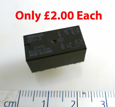 BT 47W/5 Relay by Omron Type G5V-2 4.5VDC DPDT  2 Pieces OM0349 #