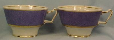 2 Lovely Vintage LOWESTOFT BORDER TEA CUPS Booths AS IS