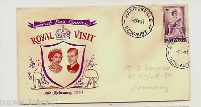 First Day Cover - 1954 Qeii Royal Visit