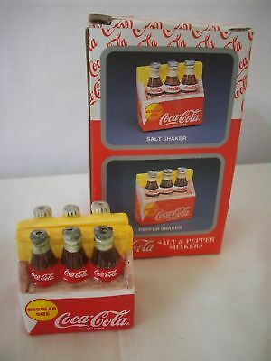 Enesco Old Coca Cola Bottles Salt & Pepper Mib #c1312