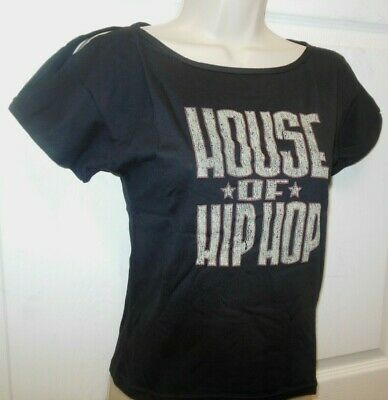 NEW open sleeve t shirt HOUSE OF HIPHOP Black Capezio's Frontline