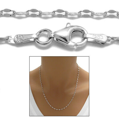 925 Sterling Silver Unique Coffee Link Chain Necklace 2mm (030 gauge)