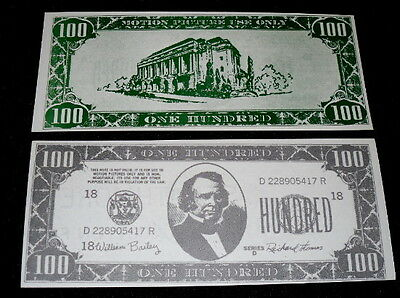 ANDREW JOHNSON $100 MOVIE PROP BILL USED IN HOLLYWOOD!