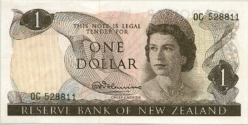 NEW ZEALAND QEII $1 SCARCE P-163a CIRCA 1967 - NICE CRISP EF!
