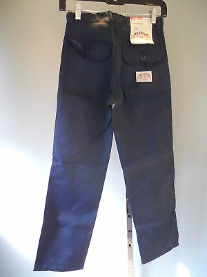Nos DeadStock 1979 MR LeGGS Navy Blue Merchantile Carpenter Pants Youth Boys 14